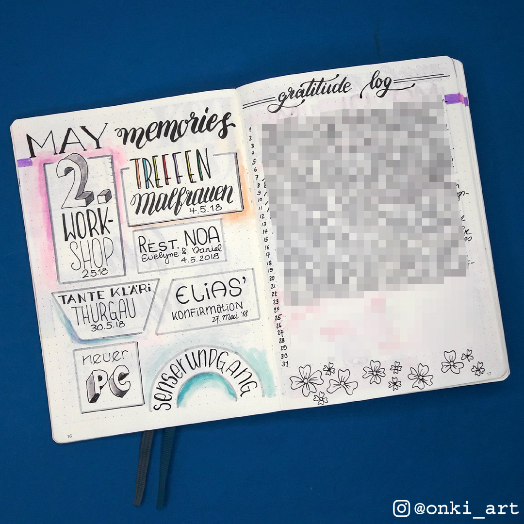 Bullet Journal memories Mai 2018