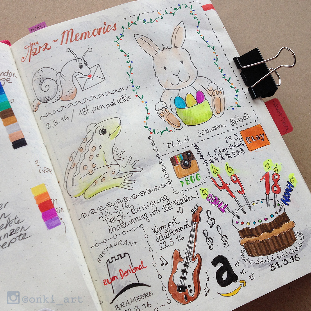 Onki Art Bullet Journal Amp Art Journal Willkommen Onki