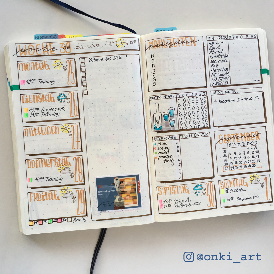 weekly spreads - @onki_ART Bullet Journaling mit Veronika Kilcher ...