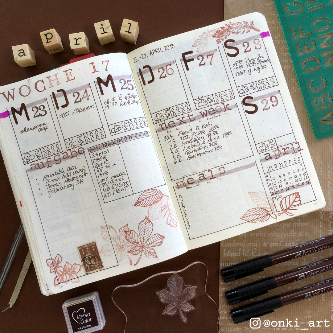 weeklyspread stencils and stamps