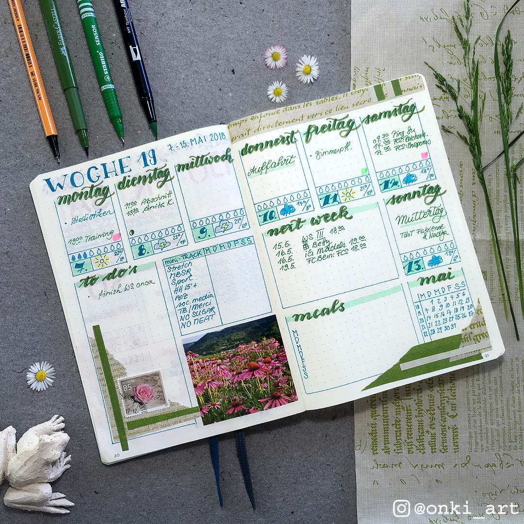 weeklyspread greenery