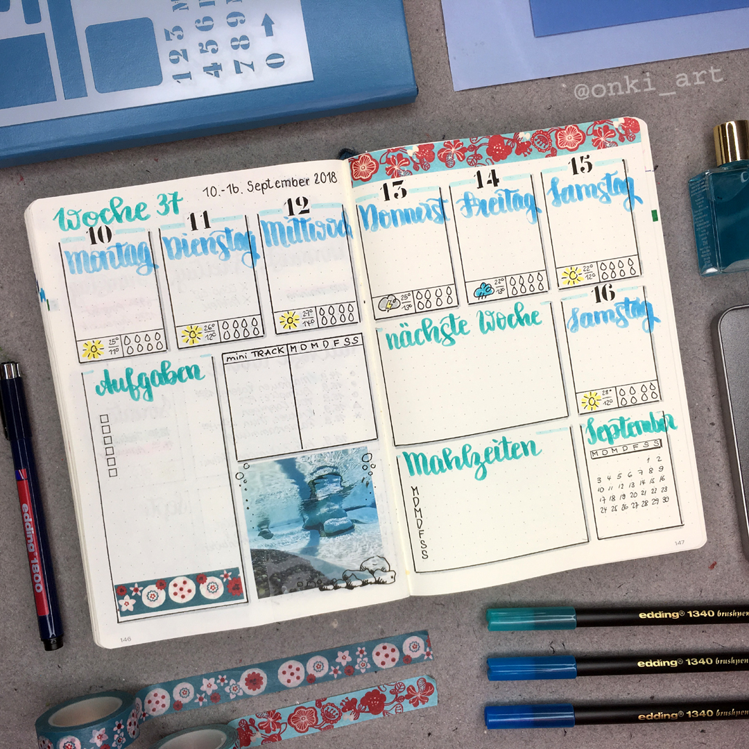 weeklyspread blue