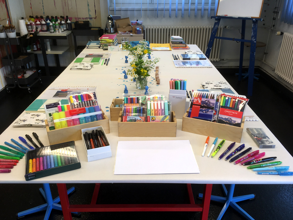 Workshop Bullet Journal Tisch