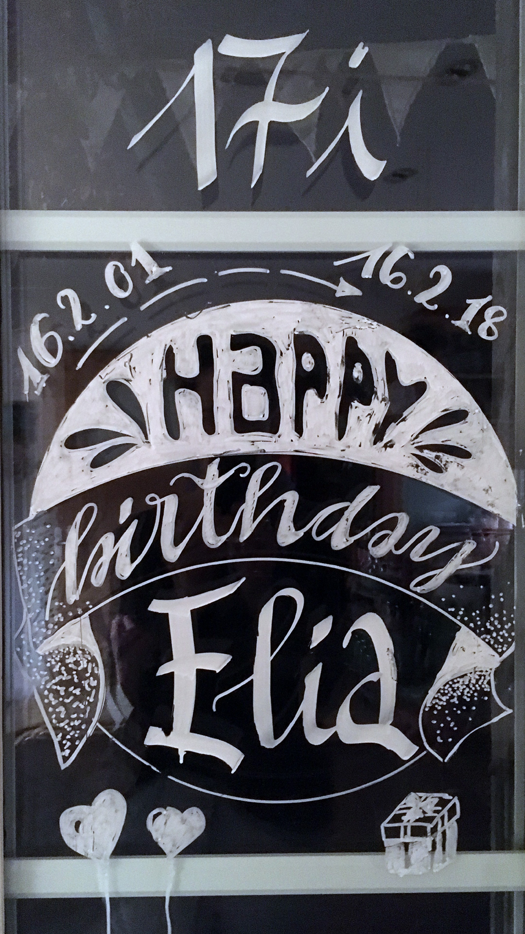 Window Handlettering Fensterbemalung