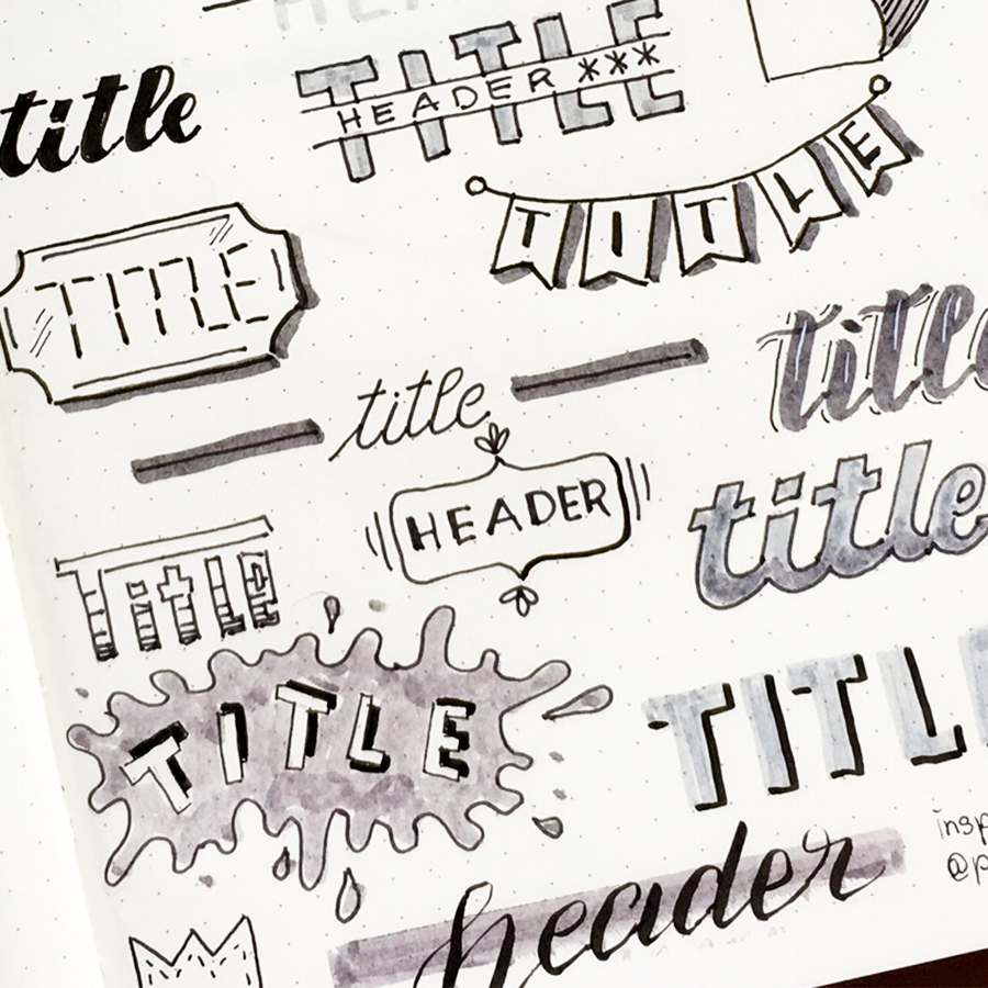 headers handlettering