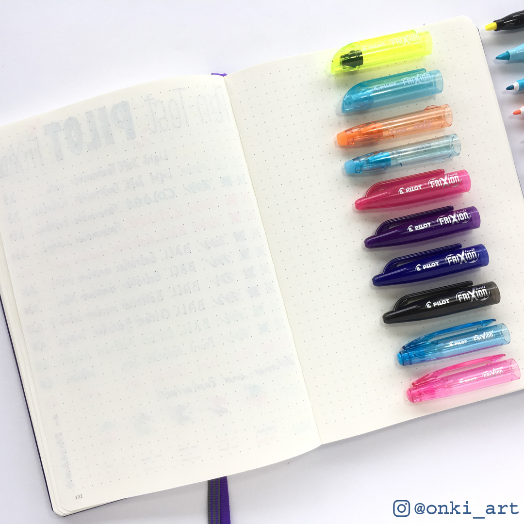 Ghosting der PILOT Pen Gelroller in meinem Bullet Journal